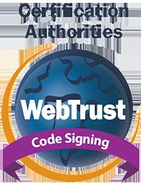 webtrust signing